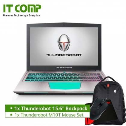 "Thunderobot GTR Dino-X7a 15.6"" Gaming Notebook (i7-7700HQ/16GB/1TB+256GB SSD/NV GTX1070 8GB) + Thunderobot Backpack"