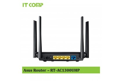 Asus RT-AC1300UHP AC1300 Dual Band Wi-Fi Router with MU-MIMO and Parental Controls