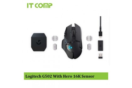 Logitech G502 LightSpeed Wireless Gaming Mouse With Hero 16K Sensor