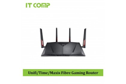 Asus RT-AC88U AC3100 Dual Band Gigabit WiFi Gaming Router with MU-MIMO, supporting AiProtection network security by Trend Micro, AiMesh for mesh wifi system and WTFast game accelerator