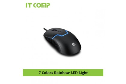 HP M100 Gaming Mouse with 7 Colors Rainbow LED Light