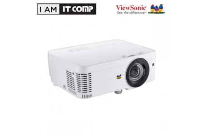 ViewSonic PS600W PROJECTOR 3500 ANSI LUMENS WXGA 1280 x 800, BUILT-IN SPEAKER & FREE CARRY CASE & HDMI CABLE. UP TO 15,000 LAMP HOURS. VGA + HDMI INPUT. 2.6KG