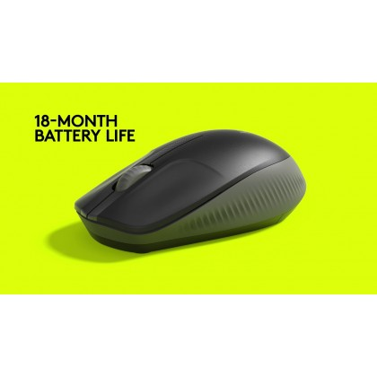( New Arrival ) Logitech M190 Full-Size Wireless Mouse - Graphite / Blue / Red