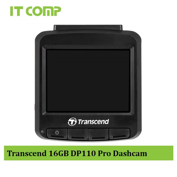"""Transcend 16GB DP110 Suction Mount 2.4"""" LCD Drive Pro Dashcam (TS16GDP110M)"""