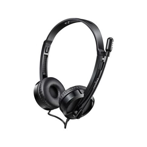 RAPOO HD120 USB Stereo Headset with Mic - Black - Mic for Skpe & Voice Call