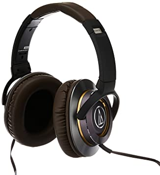 Audio-Technica ATH-WS770iS High Fidelity Bass Sound Dynamic Headphones with Mic / Wired Headphones